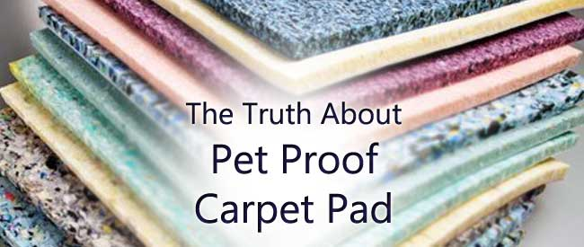 pet proof carpet pad