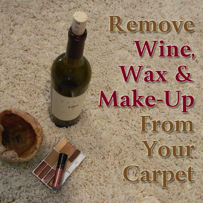 remove wine from carpet
