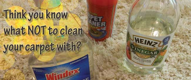 avoid OTC carpet cleaners