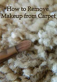 remove makeup from carpet, carpet care tips, carpet cleaning, DIY carpet cleaning tips