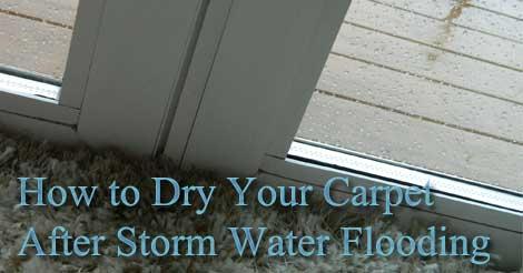 storm water flood, carpet drying, carpet flood water,