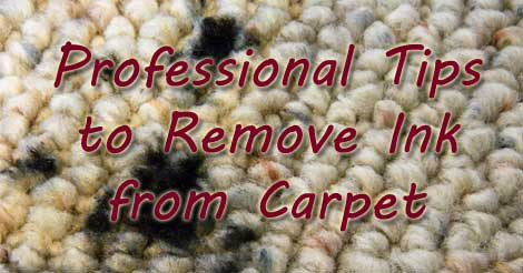 removing ink from carpet