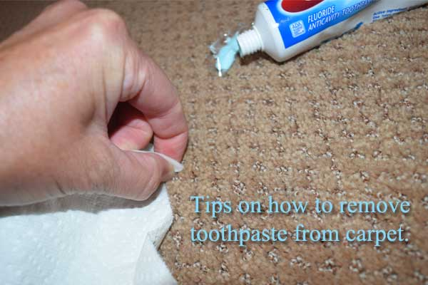 remove toothpaste from carpet