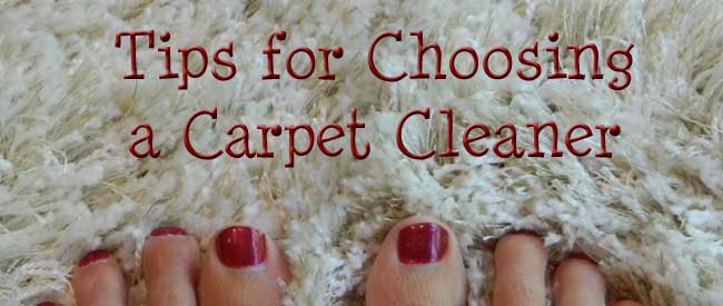 Tips for Choosing a Carpet Cleaner