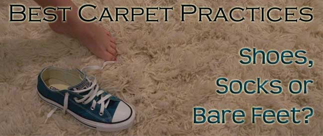 is it better to wear shoes or go barefoot on carpet