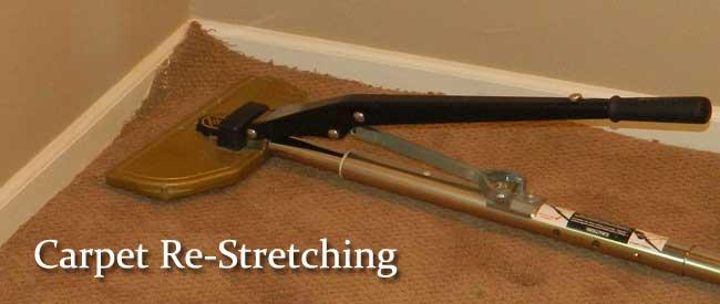 carpet re-stretching, carpet repairs, carpet stretching