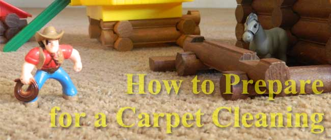 getting ready for a carpet cleaning
