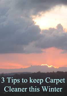 carpet cleaning, winter weather, cleaning tips