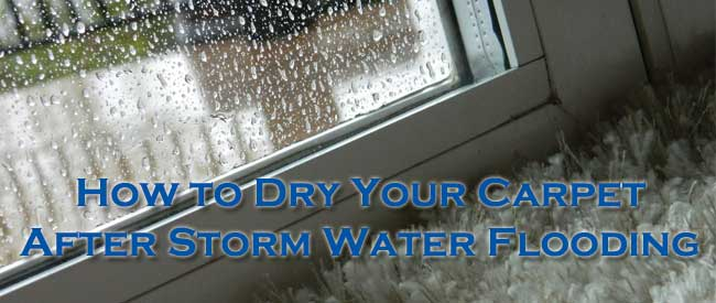 storm water flood, how to dry carpet, carpet flooding,