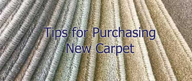 purchasing new carpet